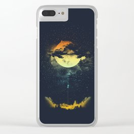 MOON CLIMBING Clear iPhone Case