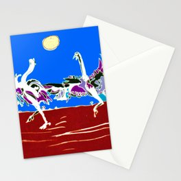 Ostriches, AUSTRALIA                                            by Kay Lipton Stationery Cards