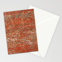 Brick Wall Texture Stationery Cards