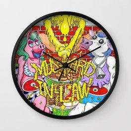 MUSTARD in LAW Wall Clock