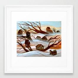 Desert Flood Framed Art Print