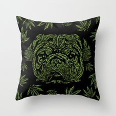 Marijuana of Pug Throw Pillow