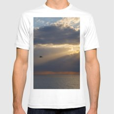 Mediterranean Sunrise After The Storm MEDIUM Mens Fitted Tee White