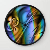 patrick Wall Clocks featuring St Patrick by Robin Curtiss