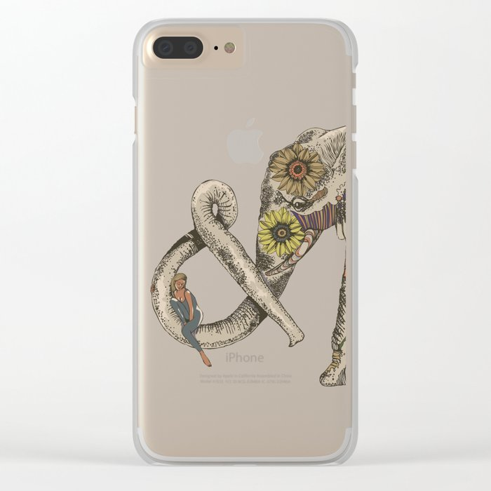 LET'S GO HOME Clear iPhone Case