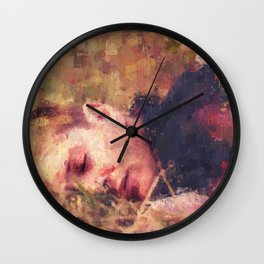 Flowerbed Wall Clock