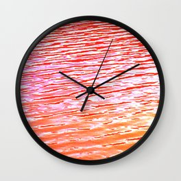 Orange and Red Waters Wall Clock