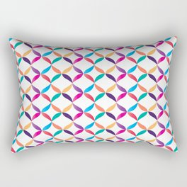 Colorful Laces Rectangular Pillow
