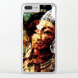 """""""The River of Creativity Runs Through Her"""" Clear iPhone Case"""
