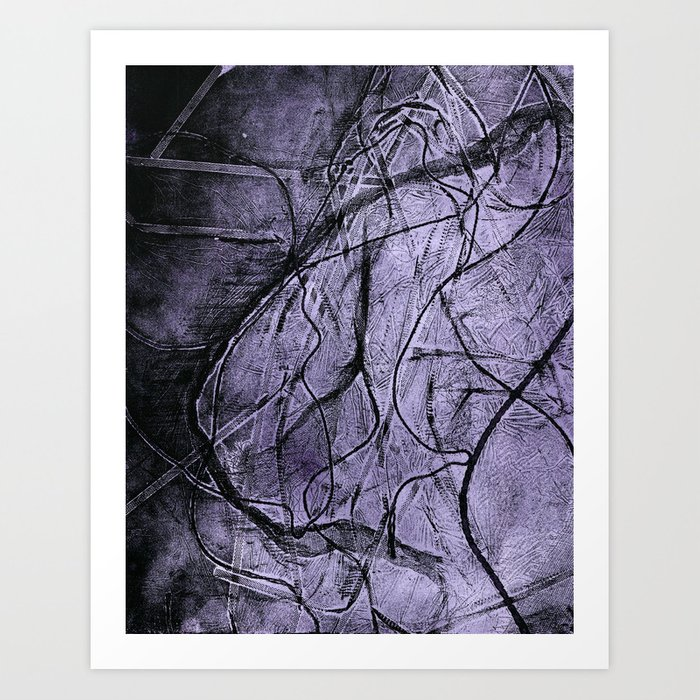 Etching _Visualising the inner self. Art Print