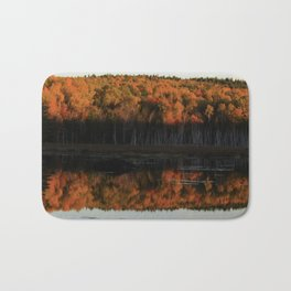Autumn Sunset Reflection at the Moosehorn Bath Mat