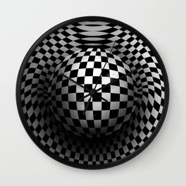 Chequered sphere Wall Clock