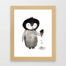 Ice Cream Kip Framed Art Print