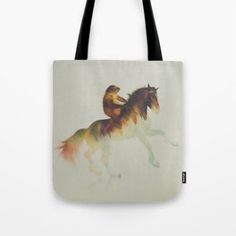 Sloth Riding a Horse Tote Bag