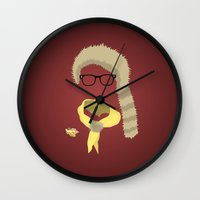sam smith Wall Clocks featuring Sam by John McKeever
