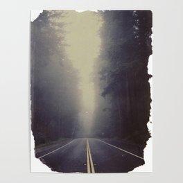 Long Road, Redwoods National Park. Instant Film Poster