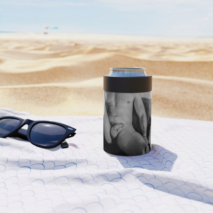 Relaxed Male Nude Can Cooler