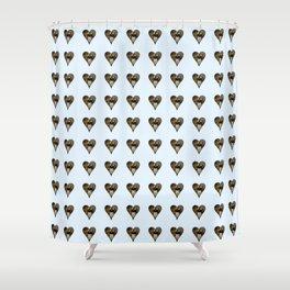 cute kitten in a heart 1-  Leon Huber - A basket full of cat Shower Curtain