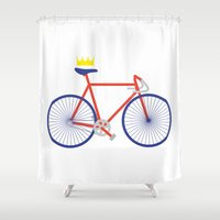 bike Shower Curtains featuring Bike by Keep It Simple
