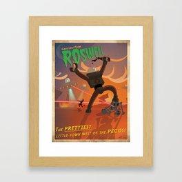 Greetings from Roswell! Framed Art Print