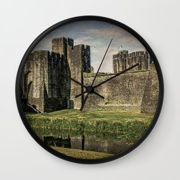 The Gatehouse At Caerphilly Castle Wall Clock