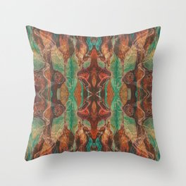 Ecstatic Pelvis (Meat Flame) (Reflected) Throw Pillow