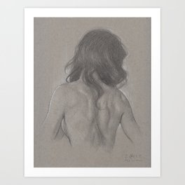 Back drawing Art Print
