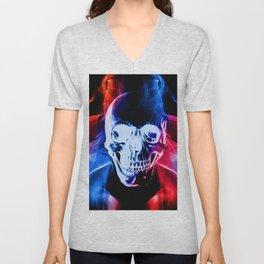 Smokey Skull Unisex V-Neck