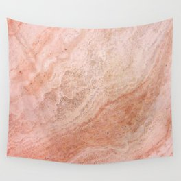 Polished Rose Gold Marble Wall Tapestry