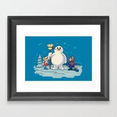 Let's Build a Snowman! Framed Art Print