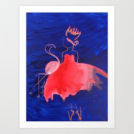 Topsy Turvy 2 Art Print