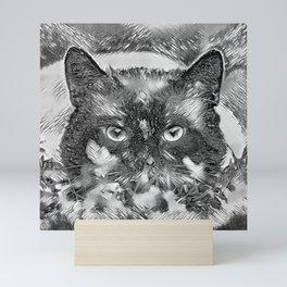 AnimalArtBW_Cat_20170918_by_JAMColors Mini Art Print