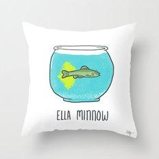 Ella Minnow Accident  Throw Pillow