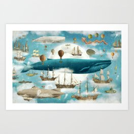 Ocean Meets Sky - book cover Art Print