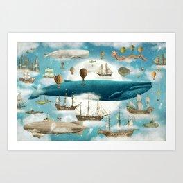 Ocean Meets Sky - book cover Art Print