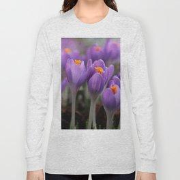 A Pair of Pretty Purple Crocus Long Sleeve T-shirt