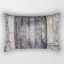 Old French Door Rectangular Pillow