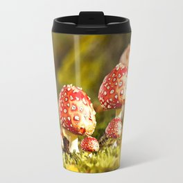 Beautiful but toxic - Fly agaric - Amanita - Autumn illustration - #society6 #buyart Travel Mug