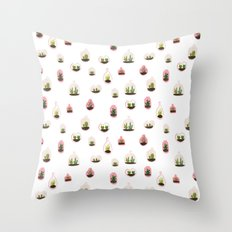 pink terrariums Throw Pillow