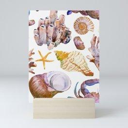 Sea Life Pattern 12 Mini Art Print