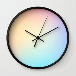 EUPHORIA / Plain Soft Mood Color Tones Wall Clock