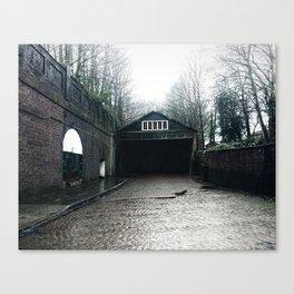 Desolated warehouse Canvas Print