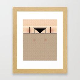 Fishnet Stockings and Black Knickers Framed Art Print