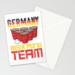 Germany Beer Pong Team Stationery Cards