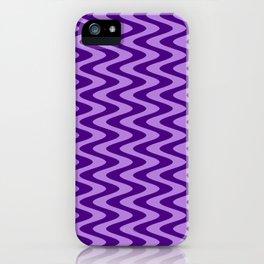 Lavender Violet and Indigo Violet Vertical Waves iPhone Case