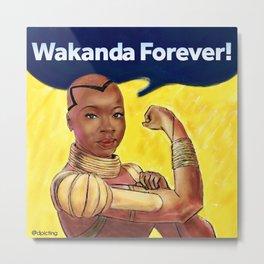 Wakanda Forever Metal Print