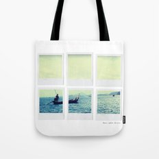 Polaroid Collage 'Longtail Boat' Tote Bag