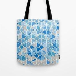 Cubes & Diamonds in Blue & Grey  Tote Bag