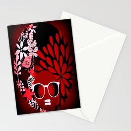 Afro Diva : Sophisticated Lady Red Stationery Cards
