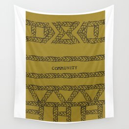 COMMUNITY ELM THE PERSON Wall Tapestry